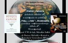 Zaproszenie na debatę pt. Wschód i Zachód w globalnym układzie sił
