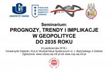 Zapraszamy na seminarium naukowe o geopolityce do 2035 roku